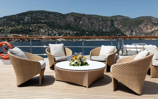 Motor Yacht KARIANNA Sun Deck Seating