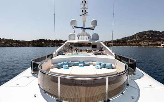 Motor Yacht KARIANNA Forward Sun Deck and Jacuzzi