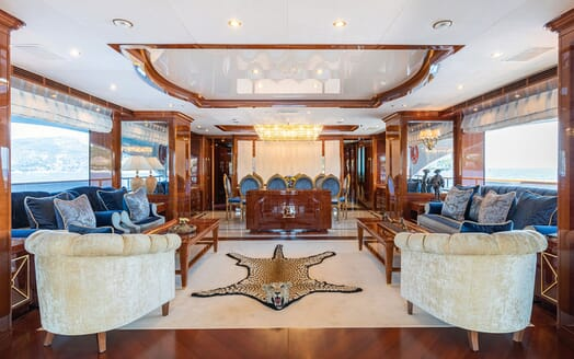 Motor Yacht KARIANNA Main Deck Saloon and Dining