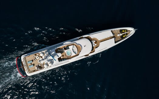 Motor Yacht KARIANNA Birds Eye View