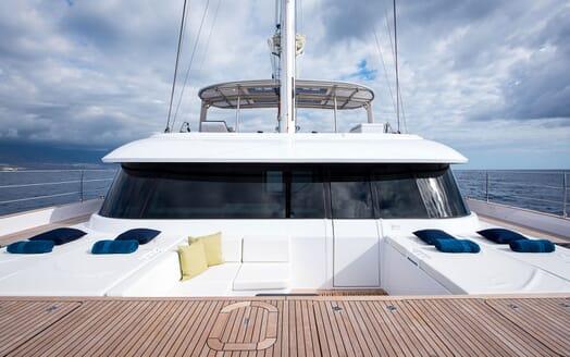 Sailing Yacht SAMADHI bow sun pads