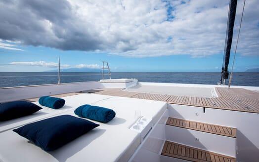 Sailing Yacht SAMADHI Aft Deck Sun Pad