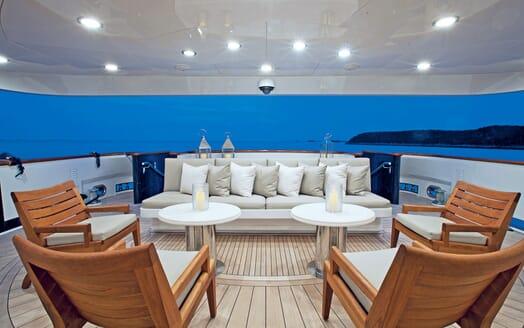 Motor Yacht ALESSANDRA Aft Deck Seating