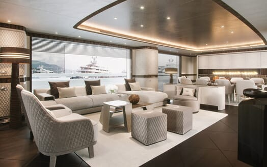 Motor Yacht Dynamiq 135 Saloon and Dining