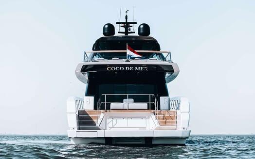 Motor Yacht COCO DE MER Aft View