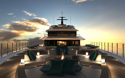 Motor Yacht Galileo foredeck