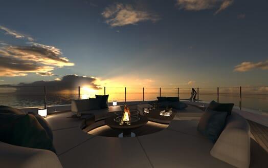 Motor Yacht Galileo outside seating