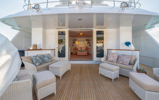 Motor Yacht Andrea Aft Deck Seating