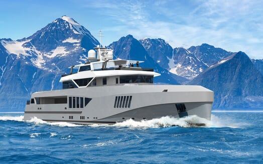 Motor Yacht Cape Hawk cruising