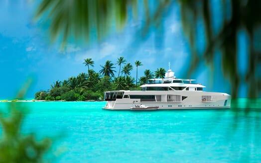 Motor Yacht Cape Hawk anchored