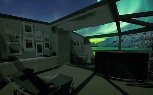 Motor Yacht Cape Hawk northern lights