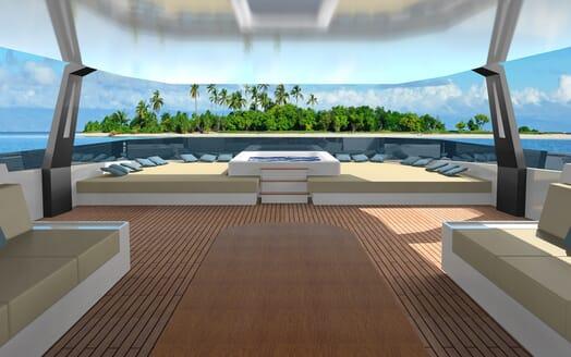 Motor Yacht Cape Hawk main deck