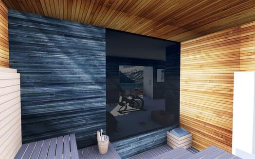 Motor Yacht Cape Hawk sauna