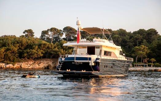 Motor Yacht DIAMS Aft View Jetski
