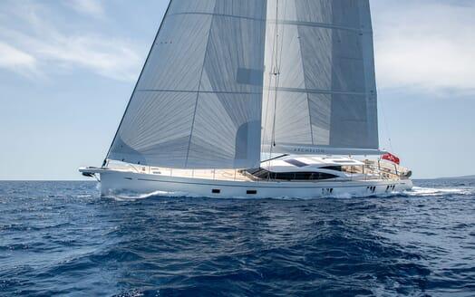 Sailing Yacht ARCHELON Profile Underway