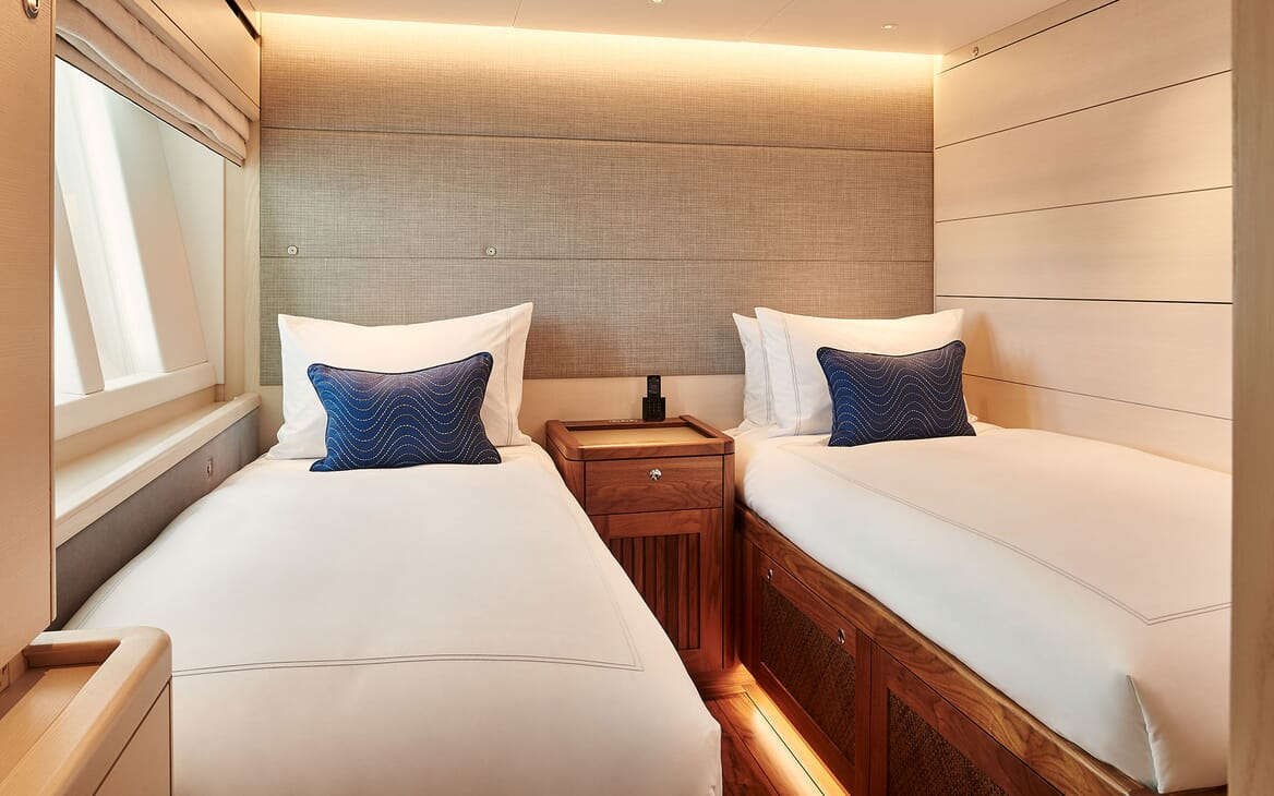 Sailing Yacht ARCHELON Twin Guest Stateroom