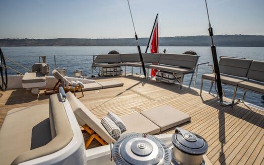 Sailing Yacht ARCHELON Main Saloon Sofa