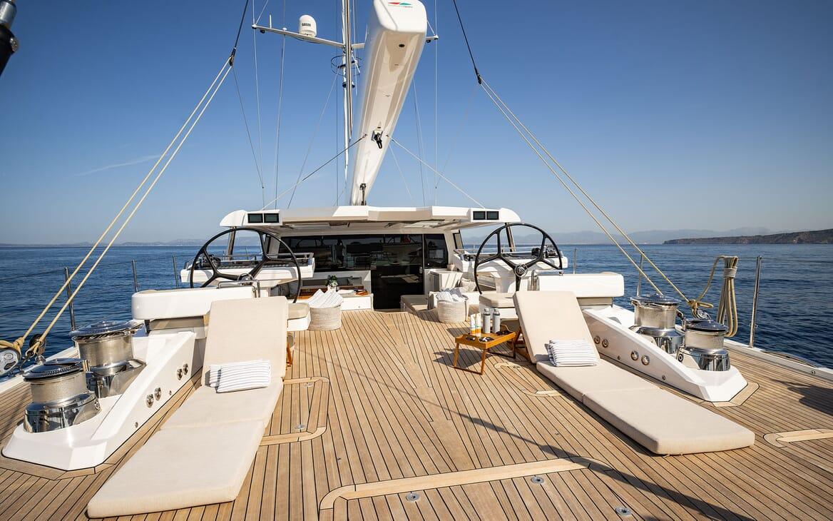 Sailing Yacht ARCHELON Main Saloon Cinema