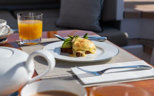 Sailing Yacht ARCHELON Hallway Staircase
