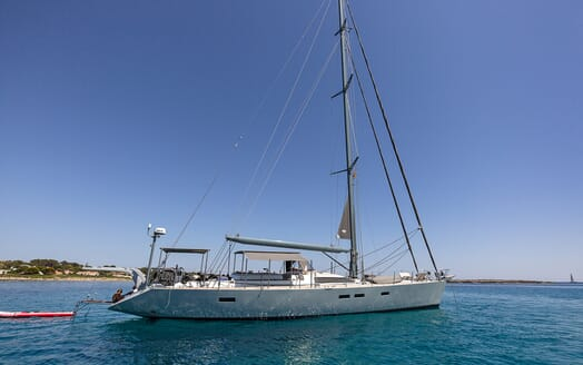 Sailing Yacht LH2 under anchor