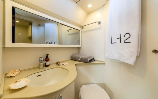 Sailing Yacht LH2 guest bathroom