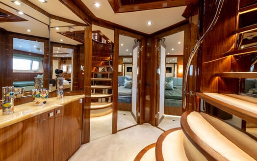 Motor Yacht ANYA Main Deck Dining Room
