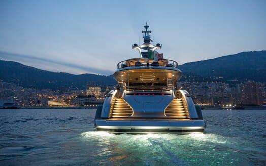 Motor Yacht Dynamiq GTT 115 Evening Aft