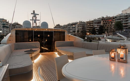 Motor Yacht Babousha Evening Sun Deck
