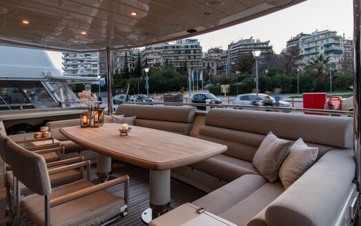 Motor Yacht Babousha Deck Seating