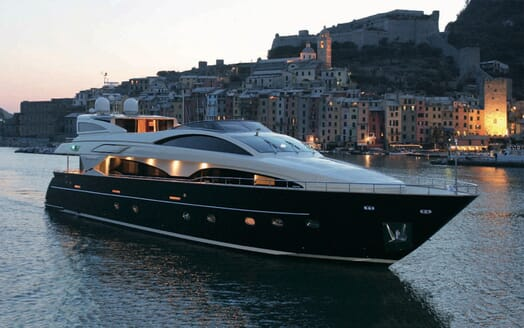 Motor Yacht Babousha Evening Profile