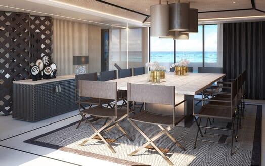 Motor Yacht Dynamiq GTT 165 Dining Room