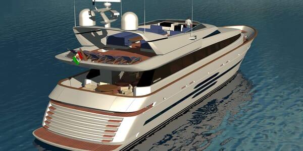 Motor yacht Akhirs 108 692 profile aft