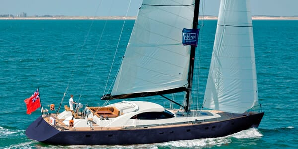 Sailing Yacht BLUE EAGLE Profile Underway