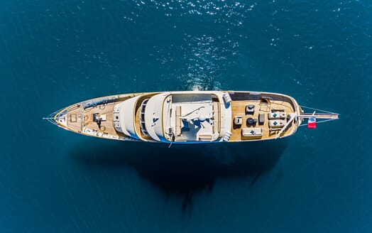 Motor Yacht TO JE TO Birds Eye View