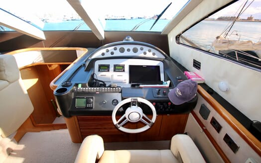 Motor Yacht MOONRAKER Wheelhouse