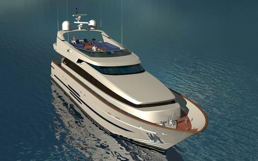 Motor yacht Akhirs 108 690 profile bow