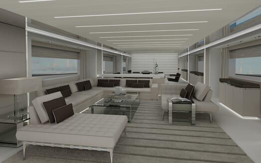 Motor yacht Akhirs 108 690 main saloon