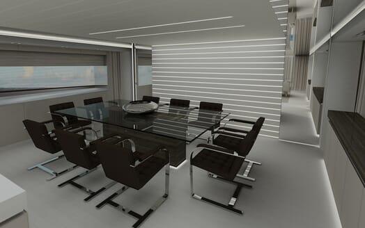 Motor yacht Akhirs 108 690 dining room