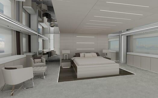 Motor yacht Akhirs 108 690 master stateroom