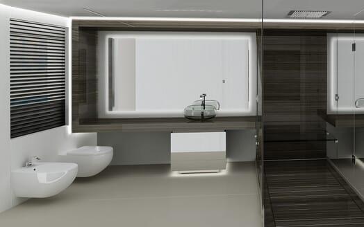 Motor yacht Akhirs 108 690 bathroom
