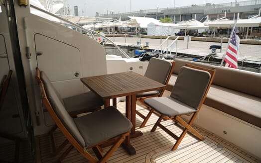 Motor Yacht Thanx Dad 4 Aft Deck Seating