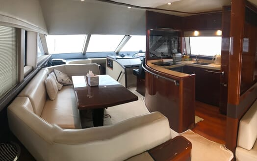 Motor Yacht Thanx Dad 4 Galley and Saloon