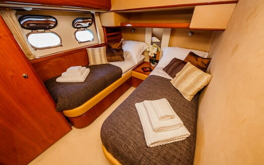 Motor Yacht Quo Vadis I Guest Twin Stateroom
