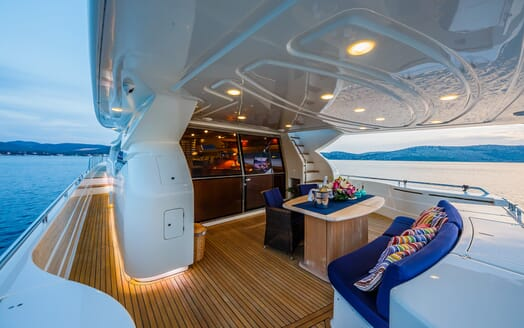 Motor Yacht Quo Vadis I Aft Seating