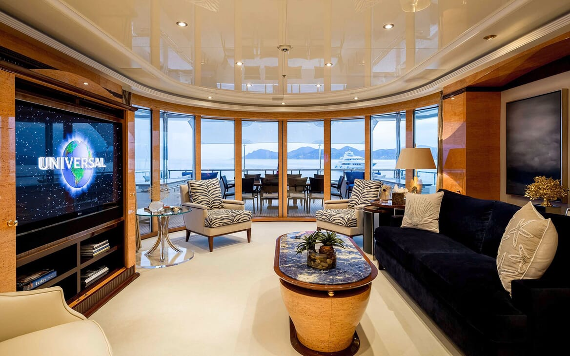 Motor Yacht LUCKY LADY Upper Saloon and Aft