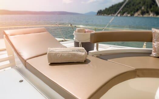 Motor Yacht Marino Sun Lounger and Towel
