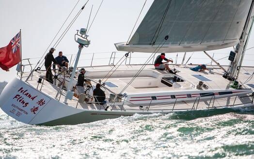 Sailing Yacht ISLAND FLING Aft