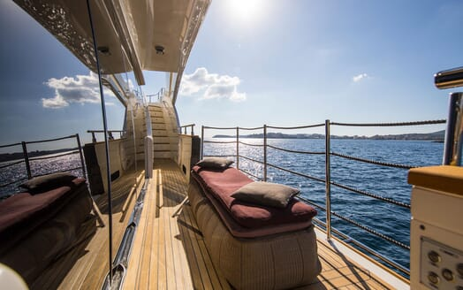 Motor Yacht CAMPO VERDE Fold Down Balcony