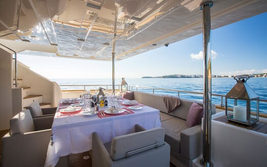 Motor Yacht CAMPO VERDE Main Aft Deck Dining