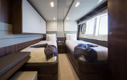Motor Yacht CAMPO VERDE Twin Guest Stateroom